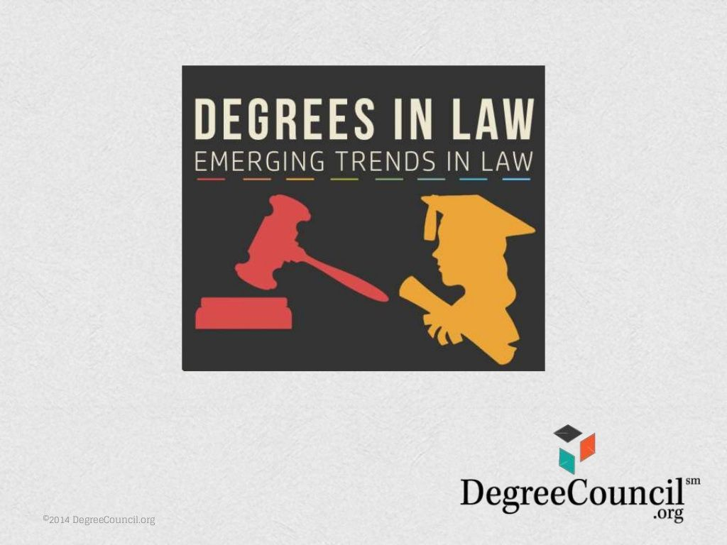 Degrees in Law 2015 Emerging Trends in Law by