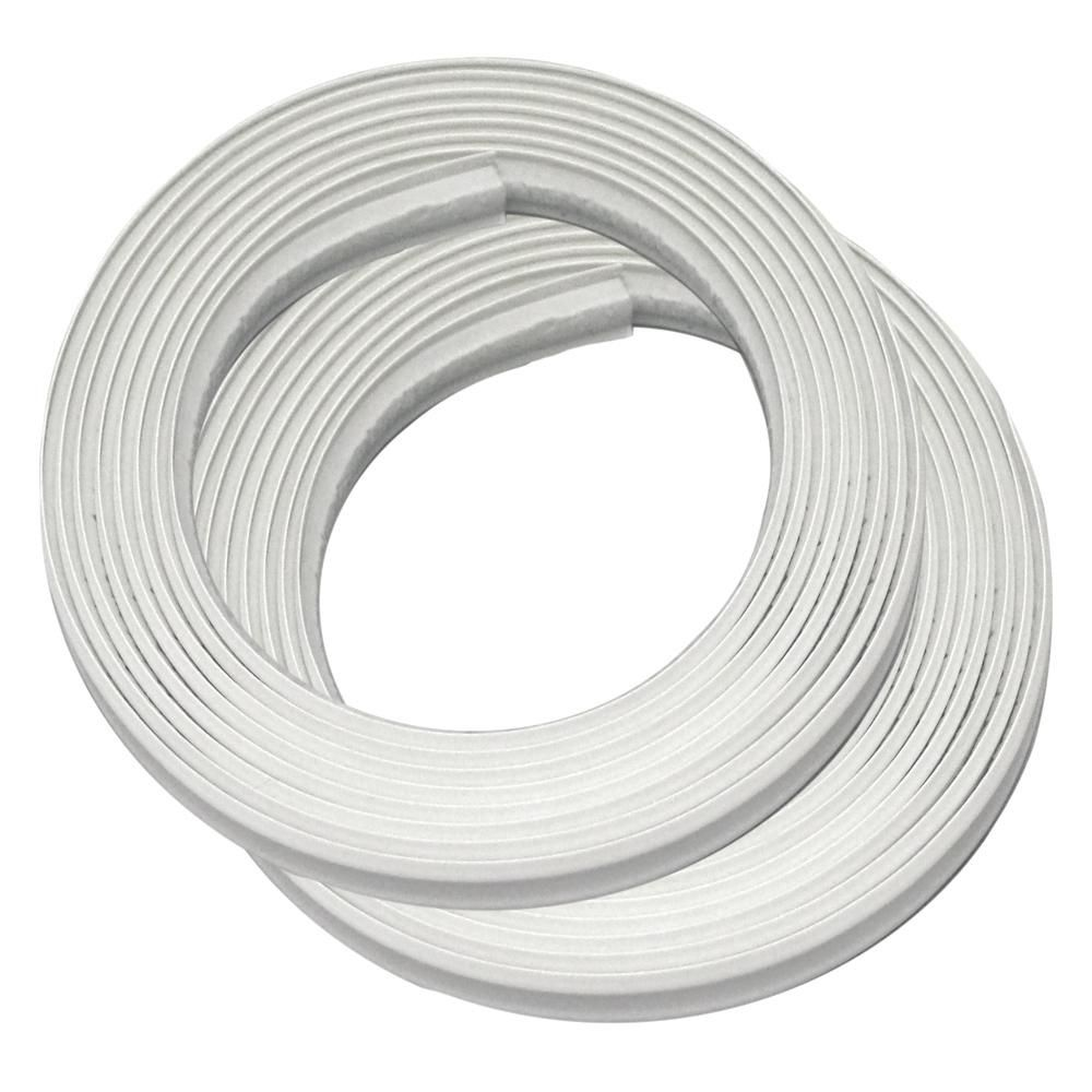 Instatrim 1 2 In X 3 8 In X 120 In White Pvc Inside Corner Self Adhesive Flexible Trim Molding 2 Pack It05inwht The Home Depot In 2020 Pvc Moulding Moulding Color Base Moulding
