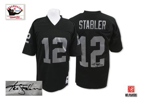 timeless design fde9b cbbe3 Kenny Stabler Men's Authentic Black Jersey: Mitchell and ...