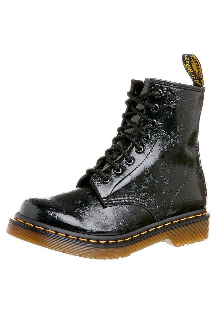 Zapatos negros con cordones estilo militar Dr. Martens para mujer auovZdk2z3