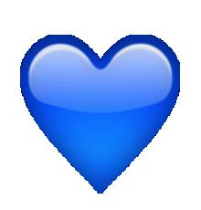 coeur bleu | iPhone Emoticons | Blue heart emoji, Emoji ...