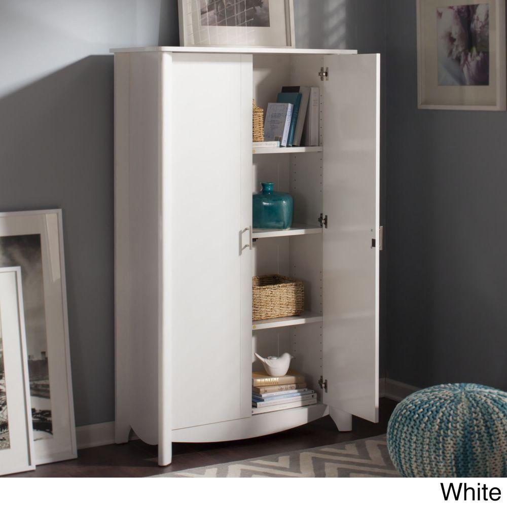 Bush Furniture Aero 2-door Tall Storage Cabinet - Overstock ...