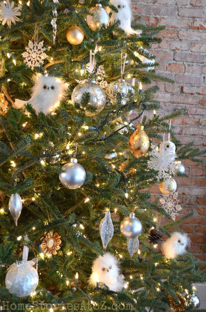 Christmas Home Tour  Christmas tree Owl and Holidays