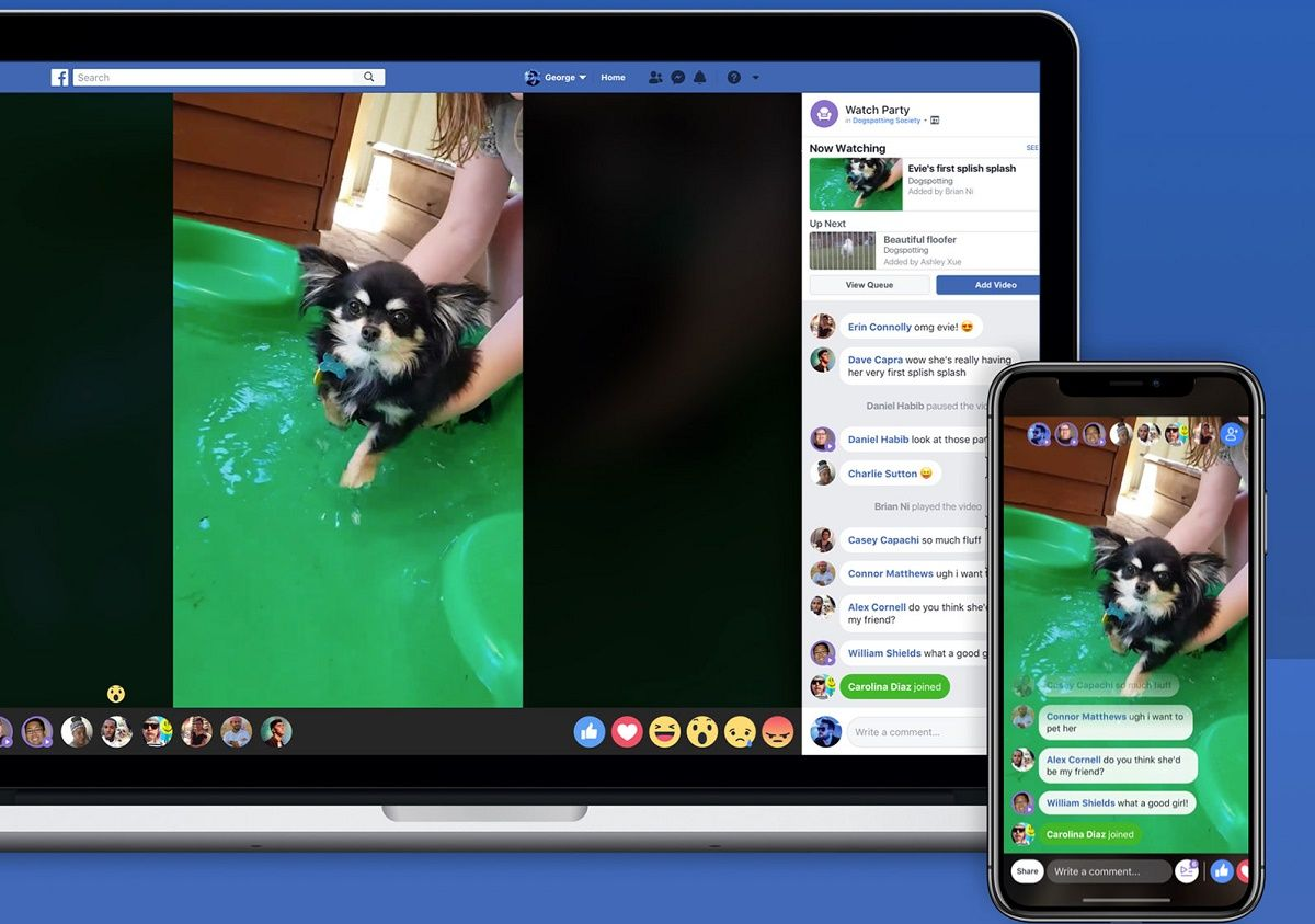 Facebook Adds New Features Watch Party Live Videos To Group Of People Facebook Facebooklive Gear Inter Watch Party Social Media Examiner Video Services