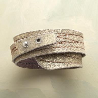 roundabout leather bracelet
