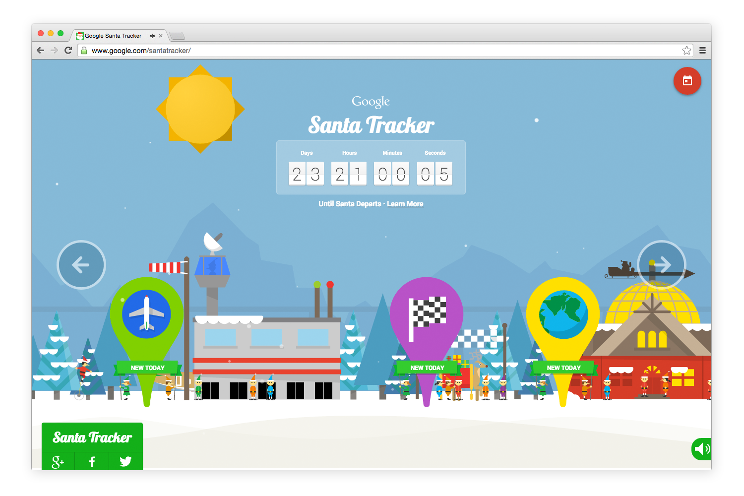 Google Launches Its 2014 Santa Tracker With Seasonal Games