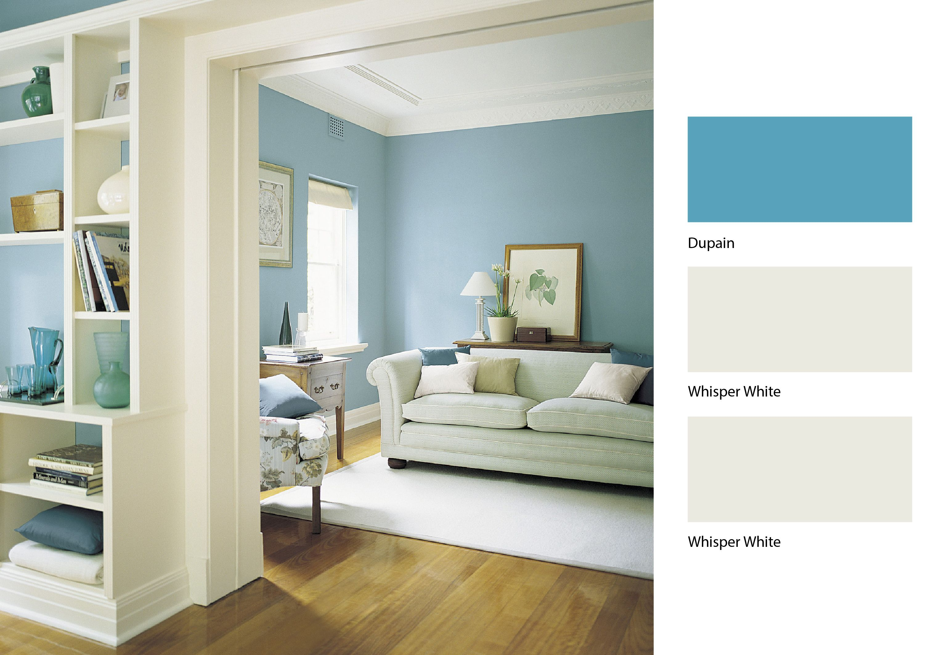 Dulux have come up with the perfect mix of blue and white to brighten up your lounge colors for Dulux colour schemes for living rooms
