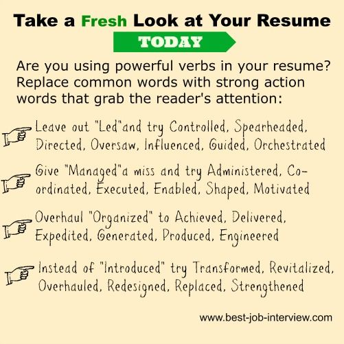 Powerful Resume Action Words Resume Action Words Action Words
