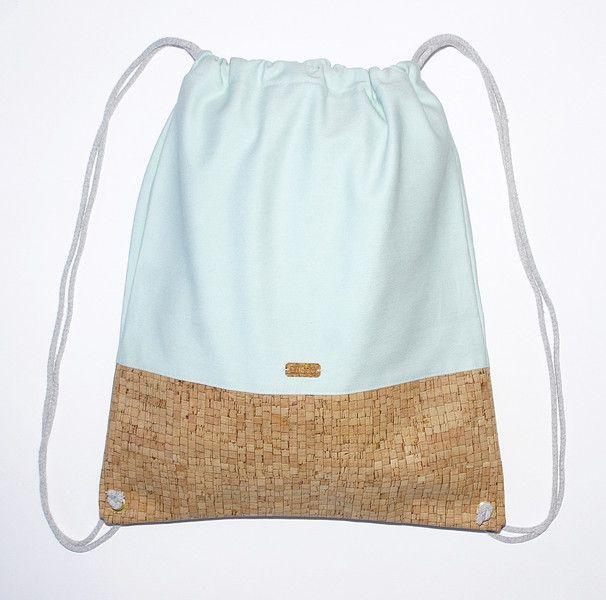 rucks cke kork turnbeutel mint rucksack tasche ein designerst ck von ulsto bei dawanda. Black Bedroom Furniture Sets. Home Design Ideas