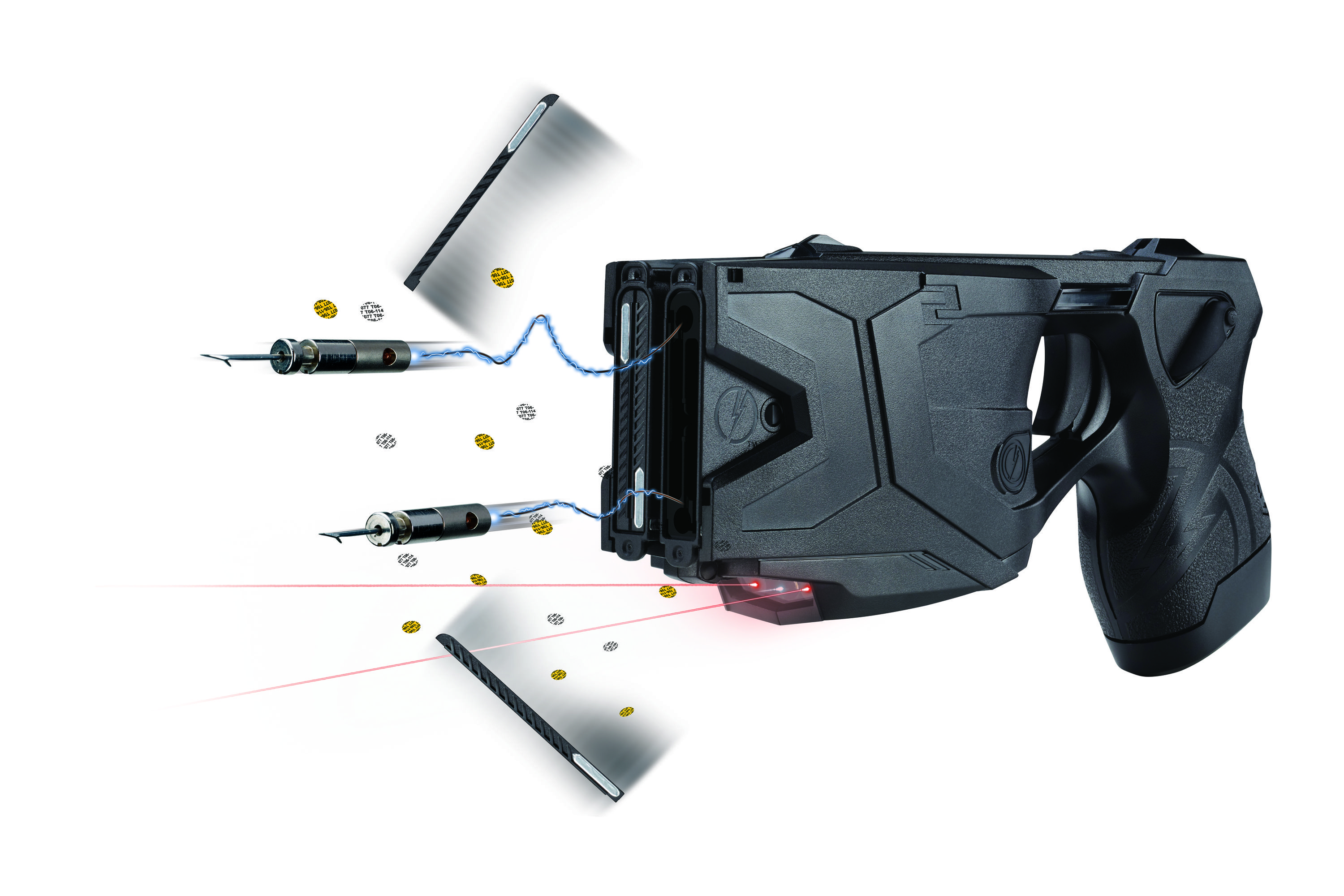 TASER CEW with dual-shots capability, dual-laser, Current Metering,  Triology Log, improved battery life & it can arc the cartridges without  deploying the ...