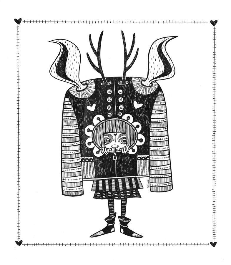 """""""Super Blusa nº2"""" - Trabalho realizado pela ilustradora Psonha Camacho, á venda na Galeria Cosmos. galeriacosmos.com"""