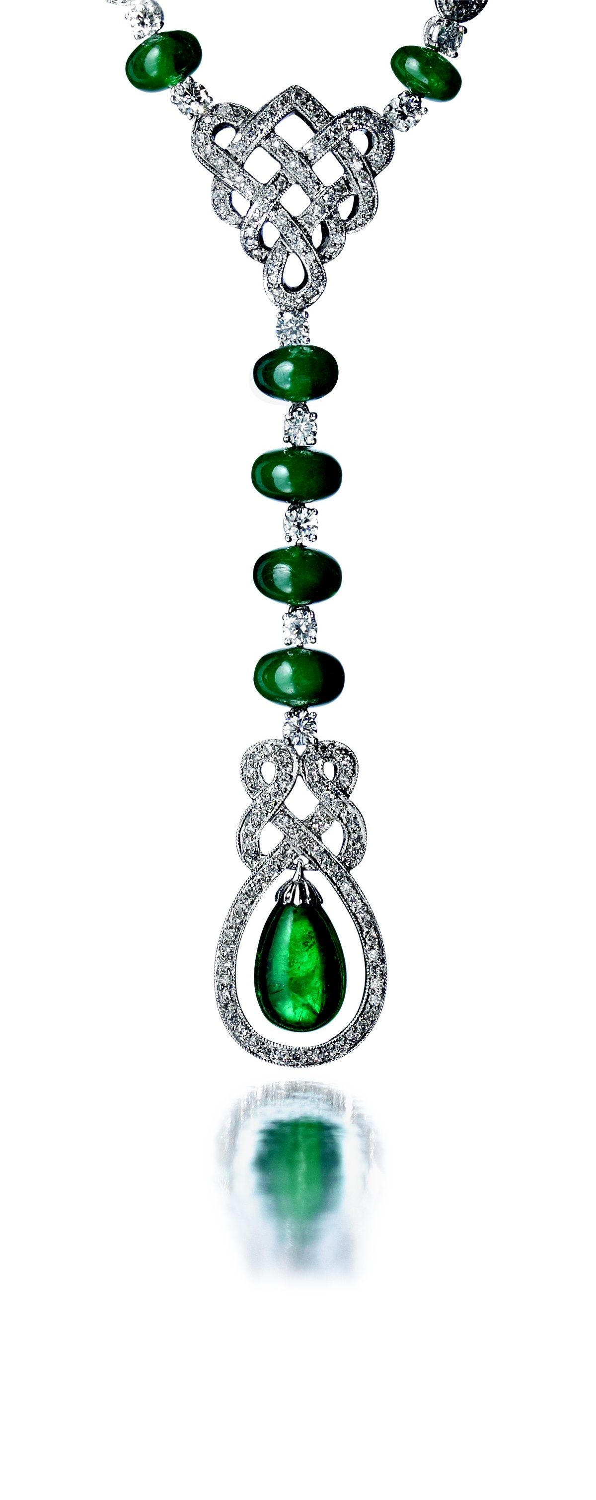 Private Reserve Emerald and Diamond Necklace