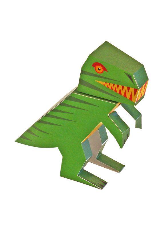 Dinosaurs Paper Toys Diy Paper Craft Kit 4 Dinosaurs 3d