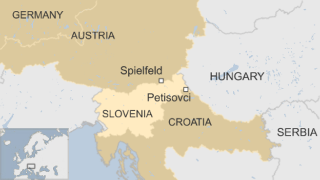 Slovenia to limit migrant numbers slovenia map locator gumiabroncs Choice Image