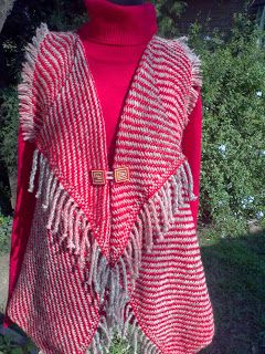 Lola Telares: Chaleco de lana, tejido sarga