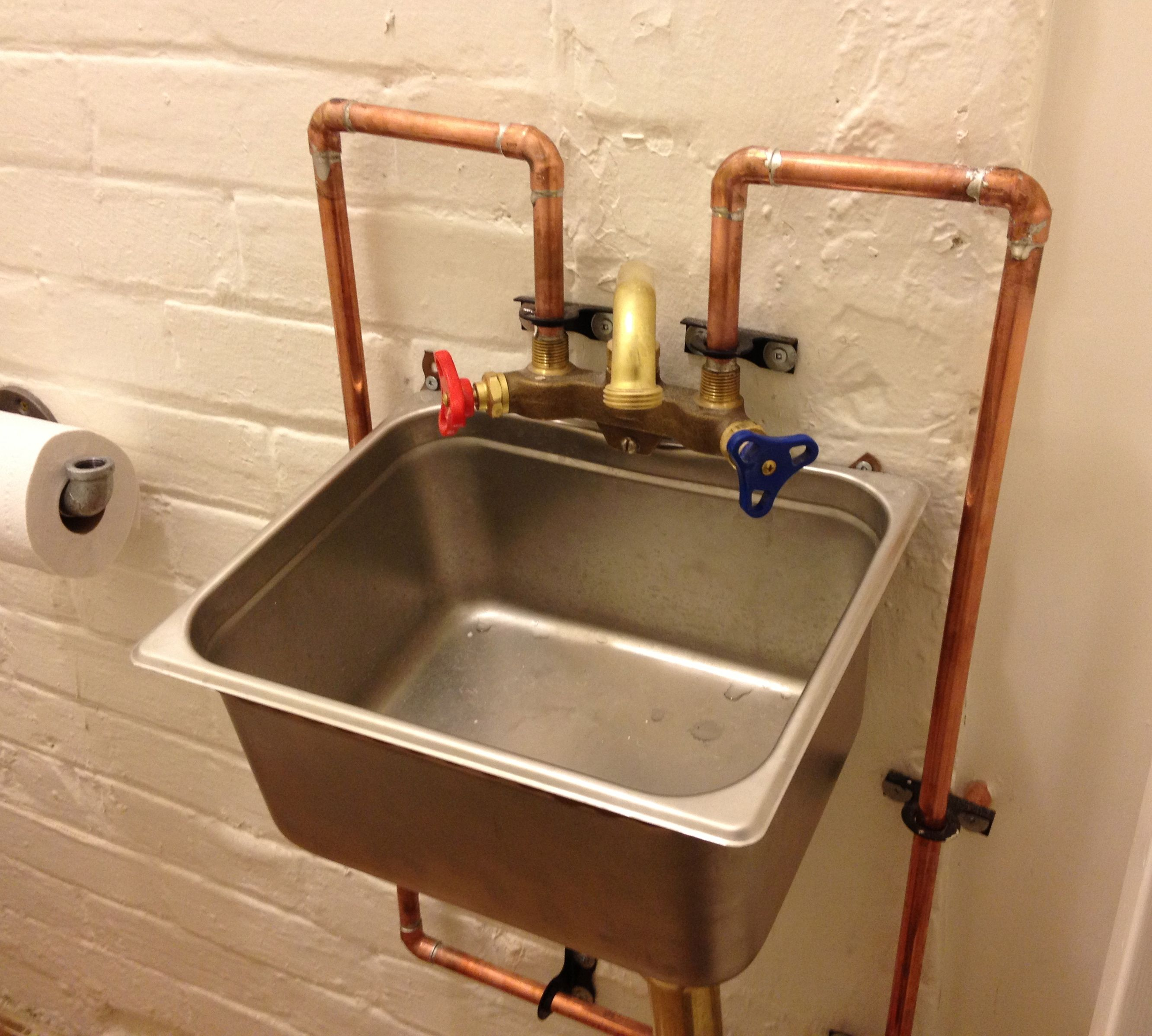 Exposed pipes basement bathroom remodeling small