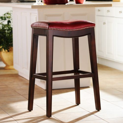 Everitt Red Leather Bar Stool In 2019 Home Decor Bar Stools