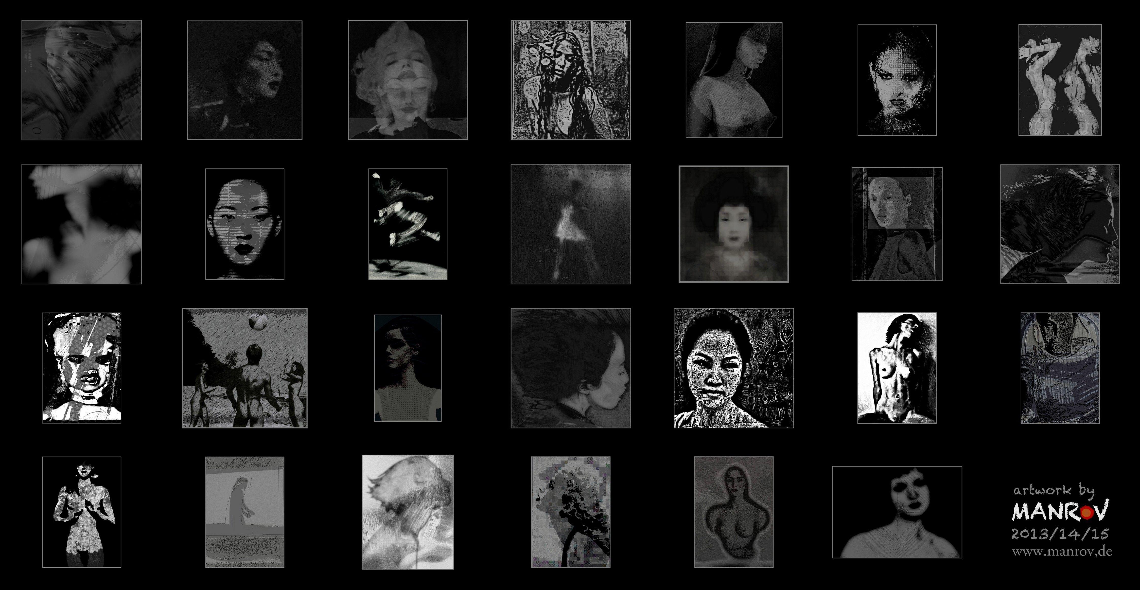 black & white photowork by MAN ROV 2015