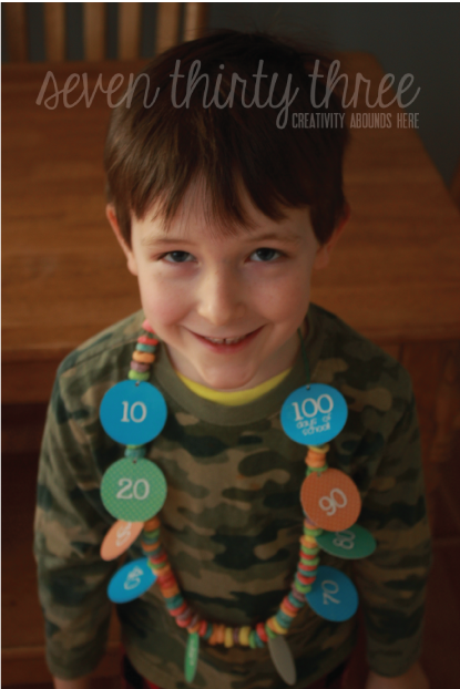 100 Days of School Necklace - Inspiration Made Simple