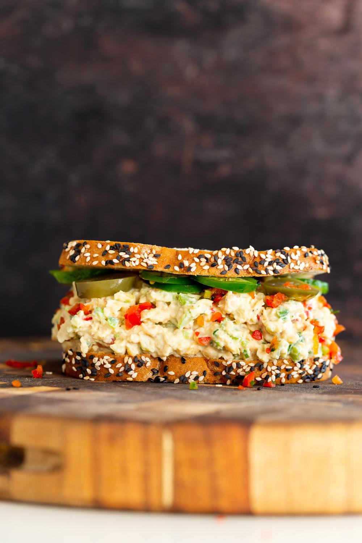 Jalapeno Popper Chickpea Salad Sandwich Vegan Richa Recipe In 2020 Sandwiches Chickpea Salad Sandwich Recipes
