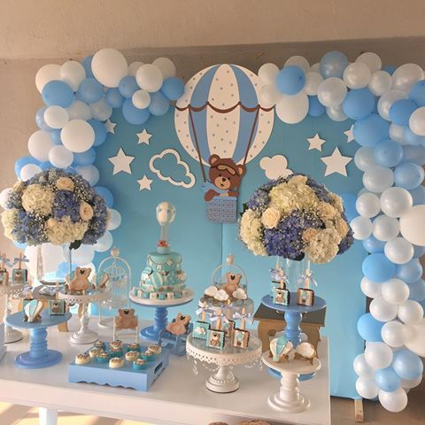 Como Hacer Adornos Para Baby Shower De Nino Buscar Con Google With Images Baby Shower Balloons Baby Bear Baby Shower Decoracion Baby Shower