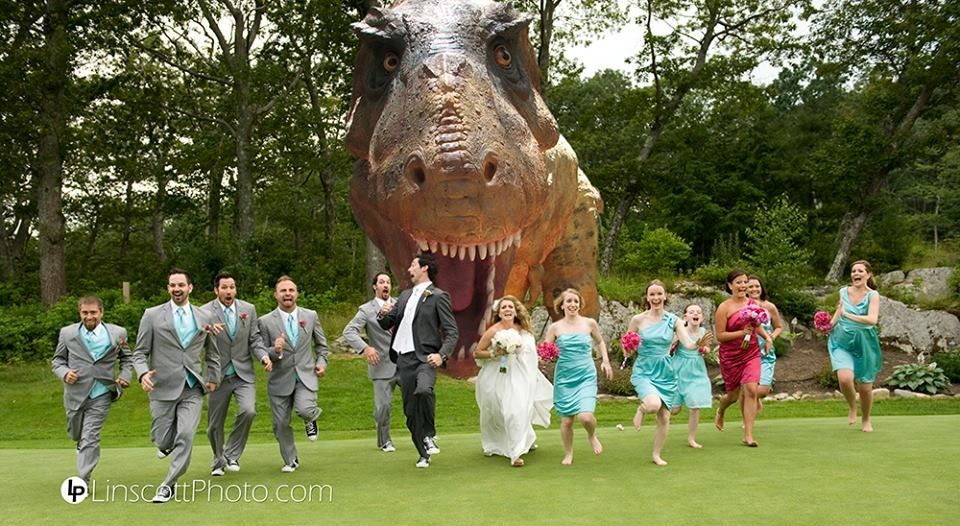 Wedding Photography Fun With The Jurassic Park Idea