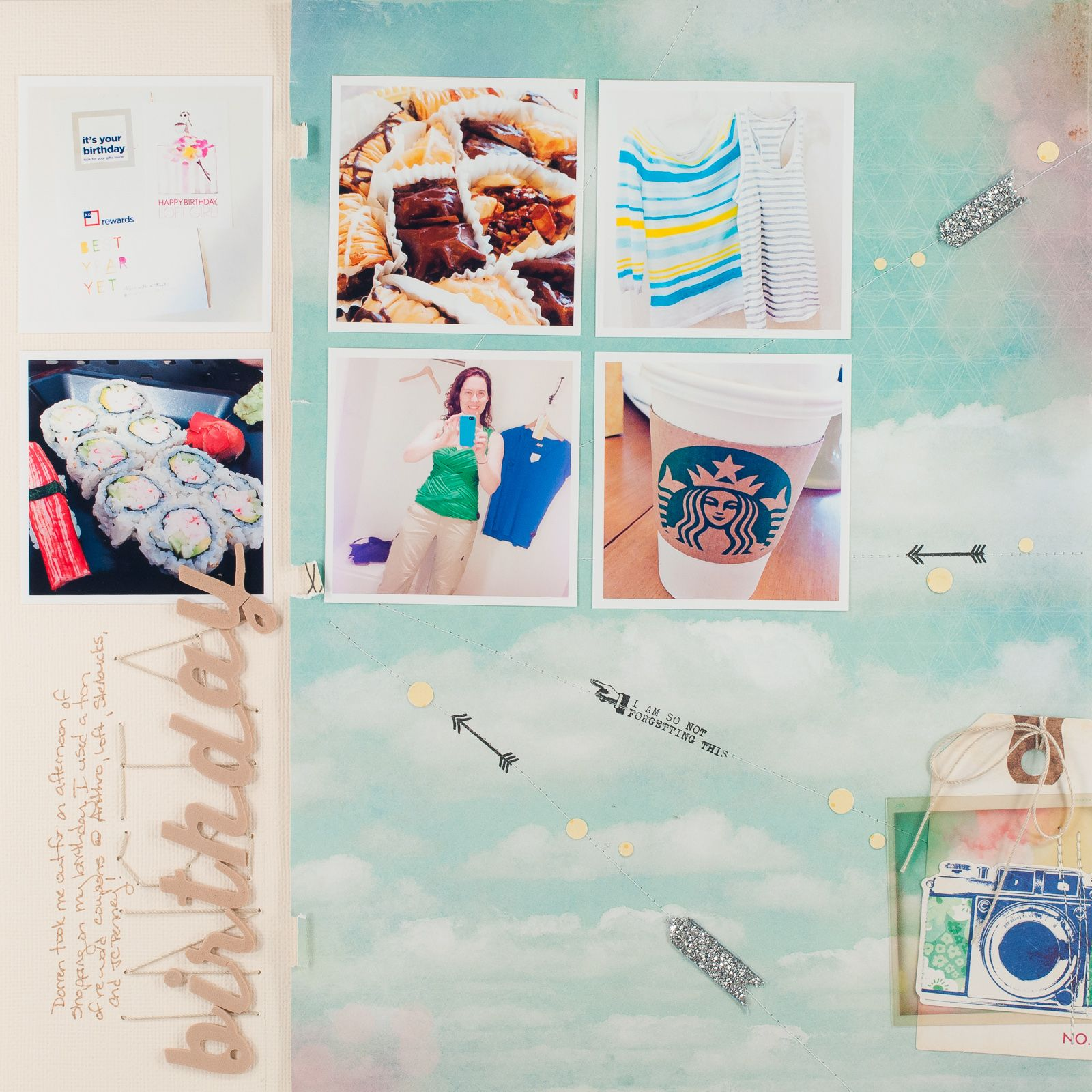 Sketch Layout by DT girl Melissa with the April Main Kit only.