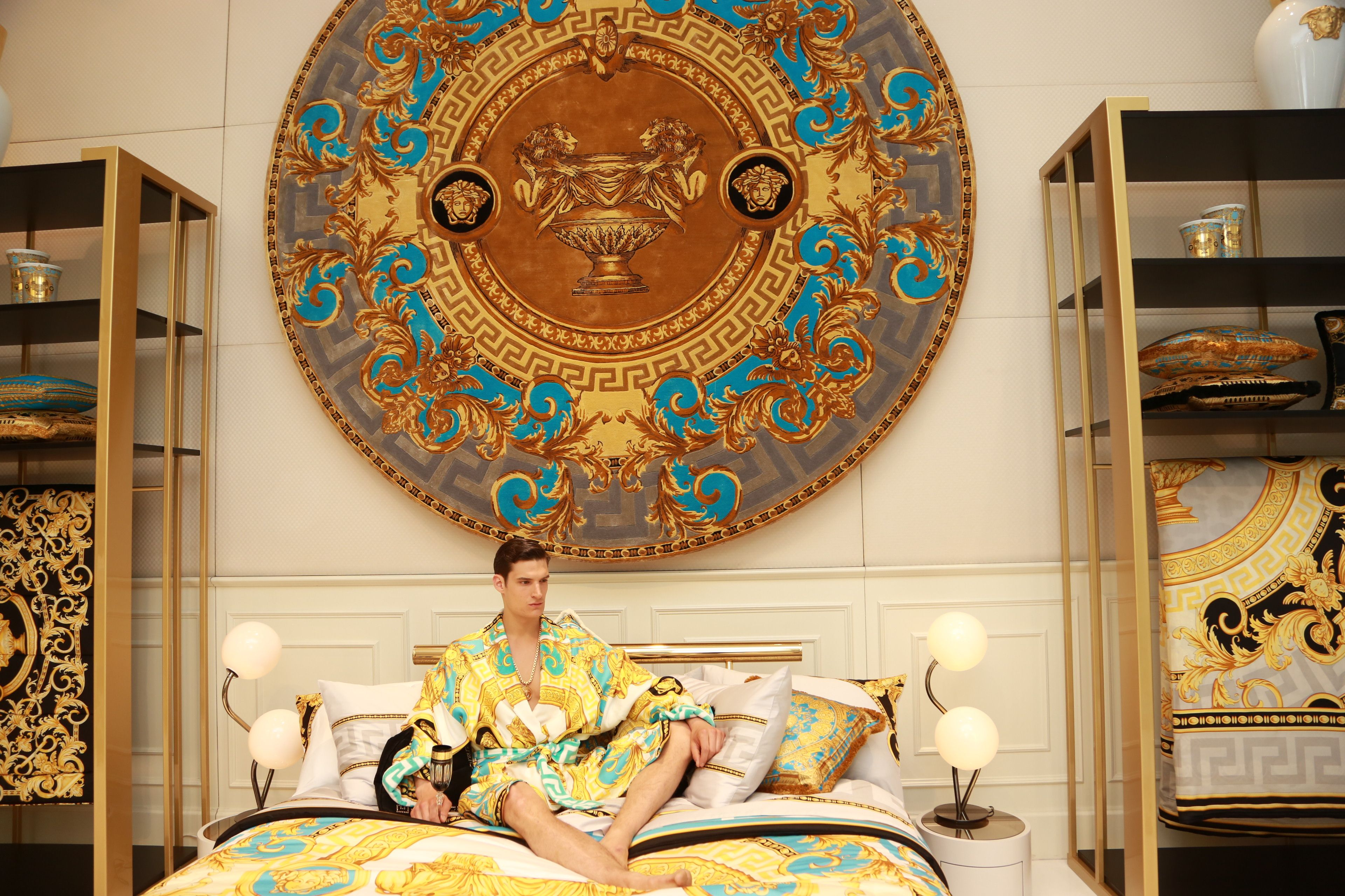 Iconic set up. Discover more at the Versace Home boutique in via ...