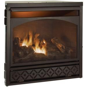 37 In Vent Free Dual Fuel Fireplace Fbd32rt At The Home Depot