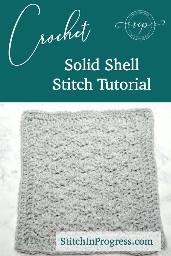 Crochet Solid Shell Stitch Tutorial | Puntos