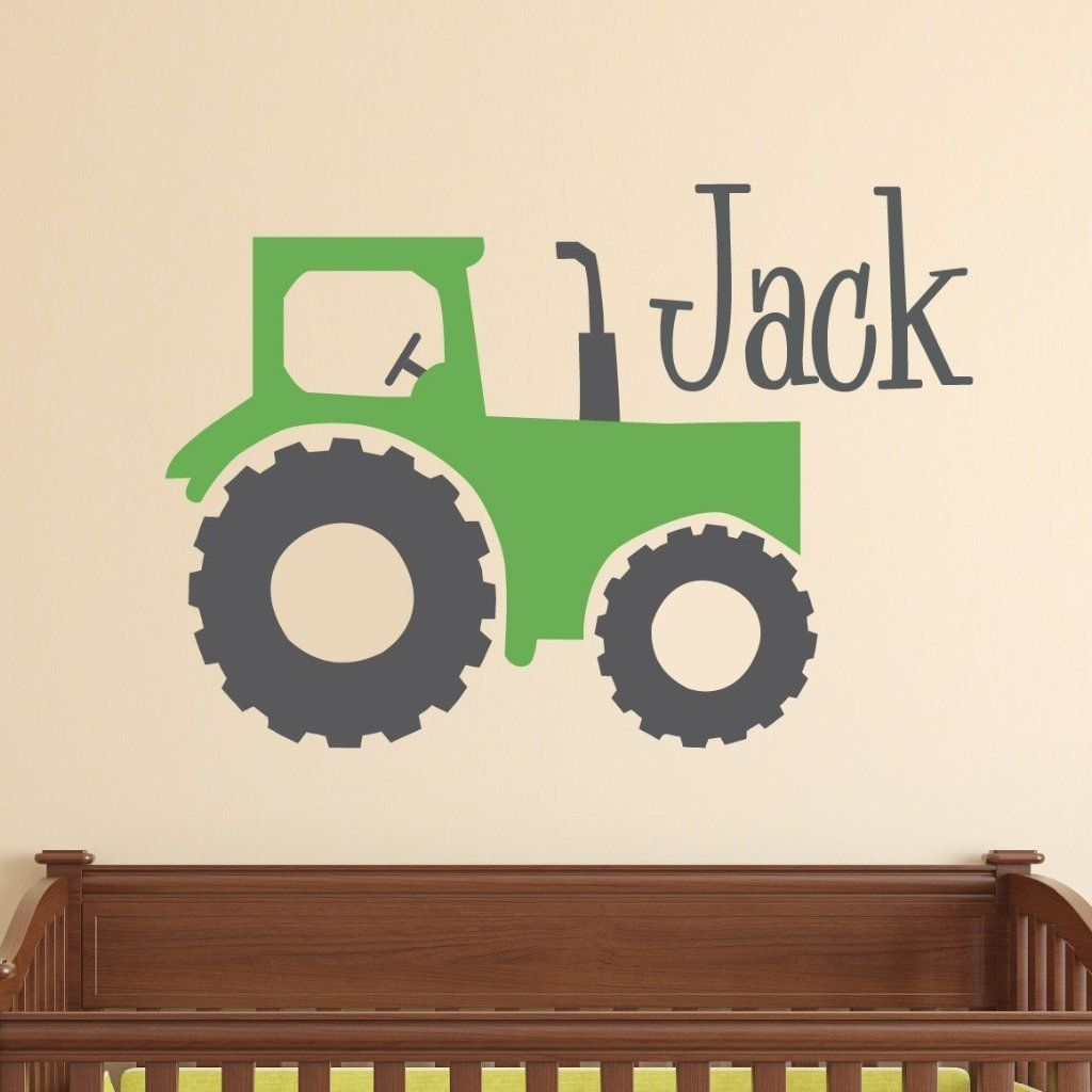 Farm Tractor Kids Wall Decal Kids Wall Decals Kids Room Wall Decals Wall Decals