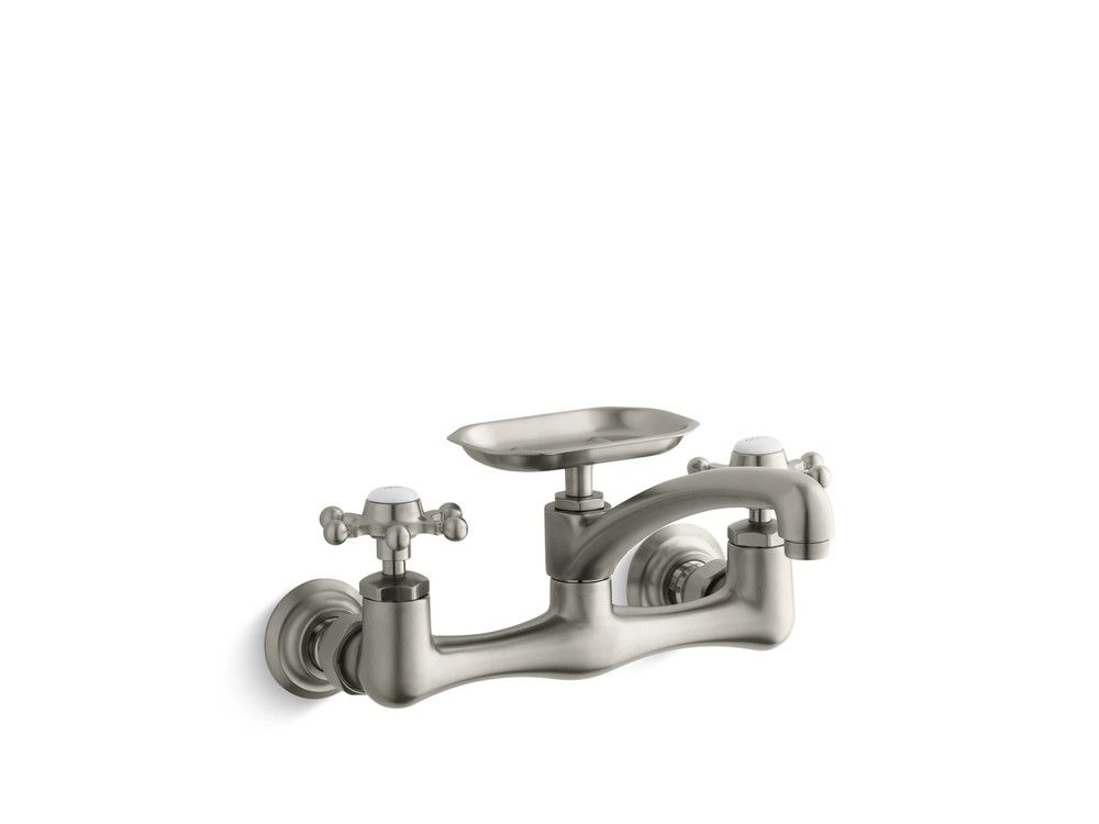 Antique® Two-Handle Wall Mounted With Soap Dish - Kitchen Faucet ...