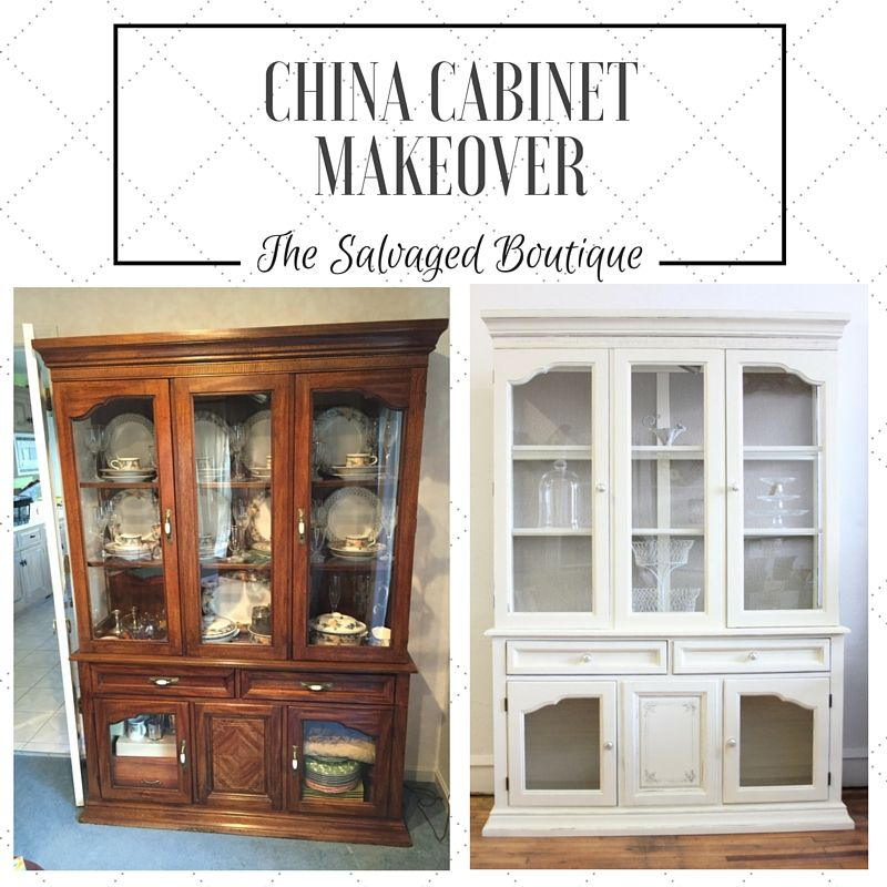 Chalk Paint China Cabinet Makeover