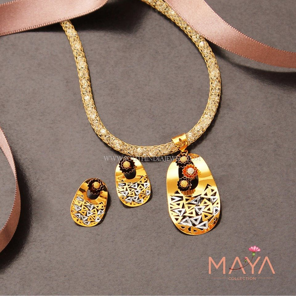 8 Grams Gold Pendant Set   Pendant set, Gold pendant and Set design
