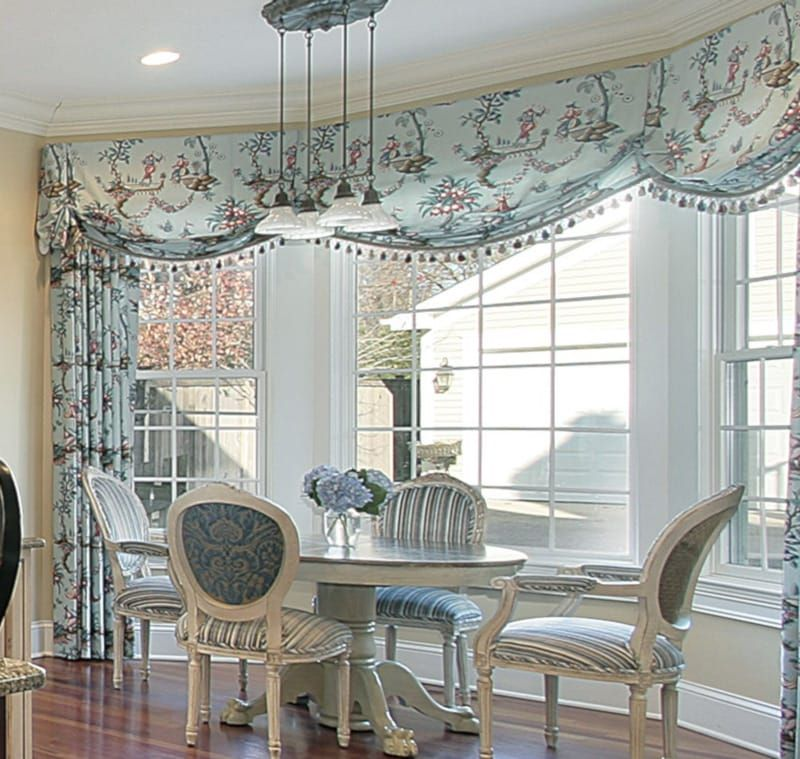 Ideas For Dining Room Valances And How To Steal Them Dining Room Window Treatments Window Treatments Living Room Bow Window Living Room