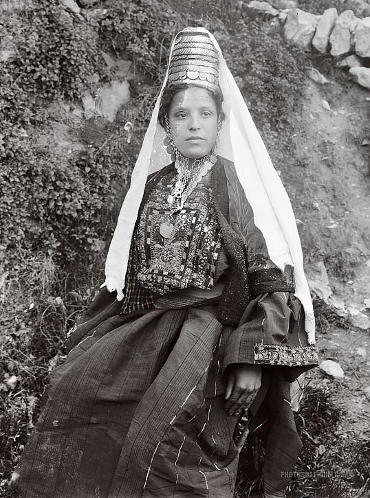 Woman with Traditional Costume: Bethlehem, Palestine 1898-1914 | Photographium | Historic Photo Archive