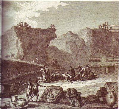 Inicio y desarrollo de las excavaciones en Pompeya