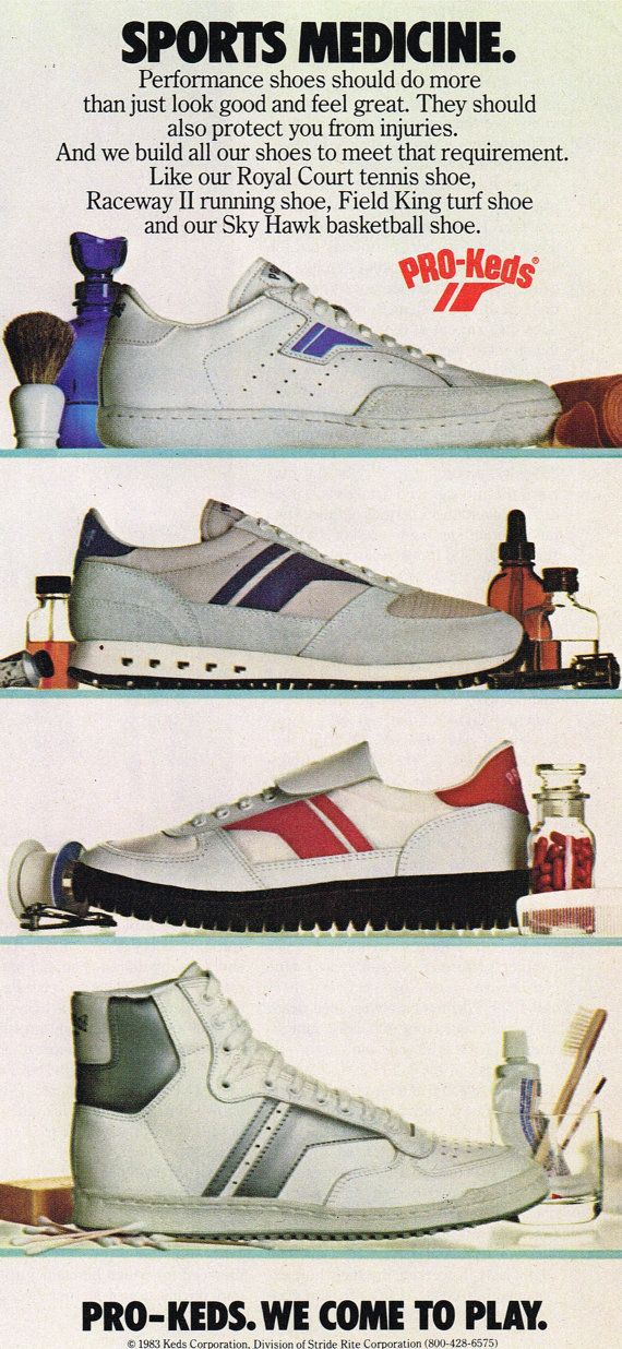 94ece050a9d Vintage 1983 Pro Keds Tennis Basketball Running Shoes Vintage Print Ad  digital download by DigiAds