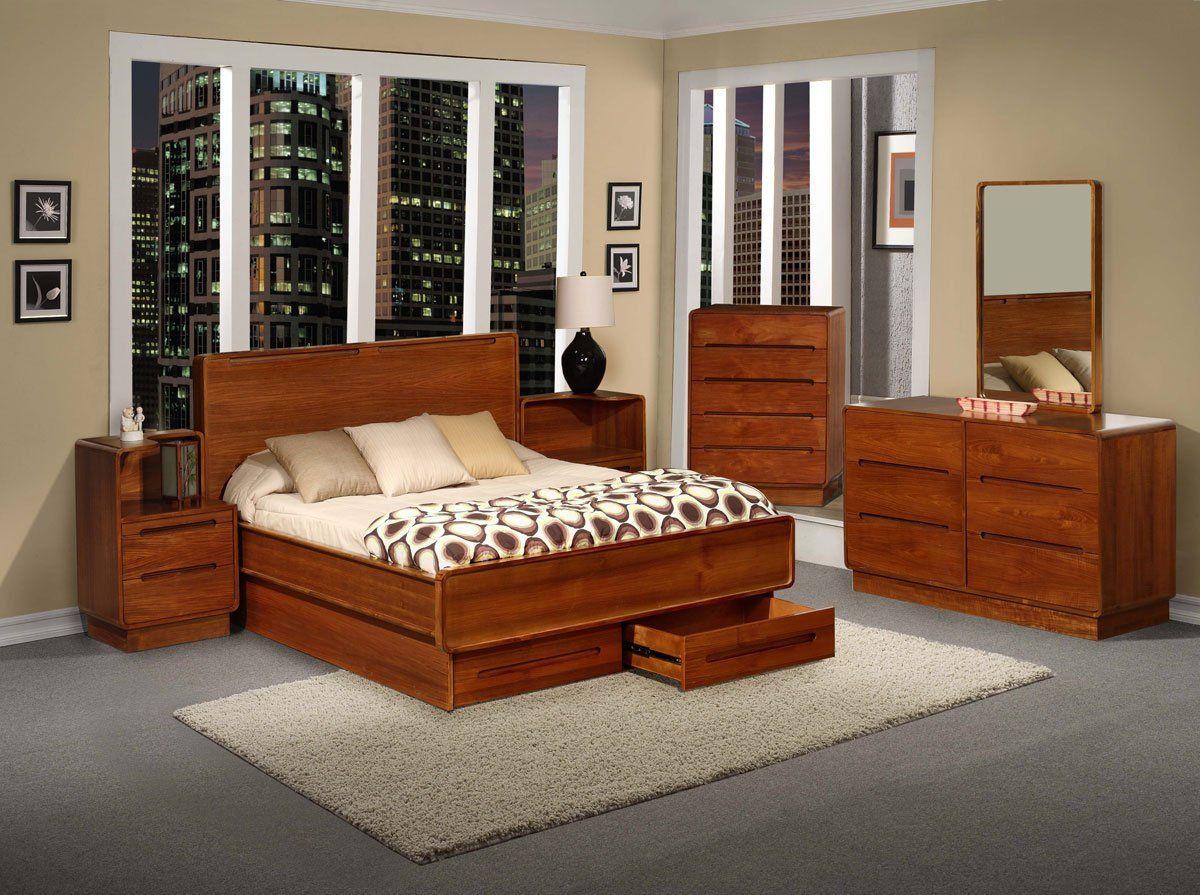 Teak Wood Bedroom Furniture - Interior Bedroom Design Furniture ...