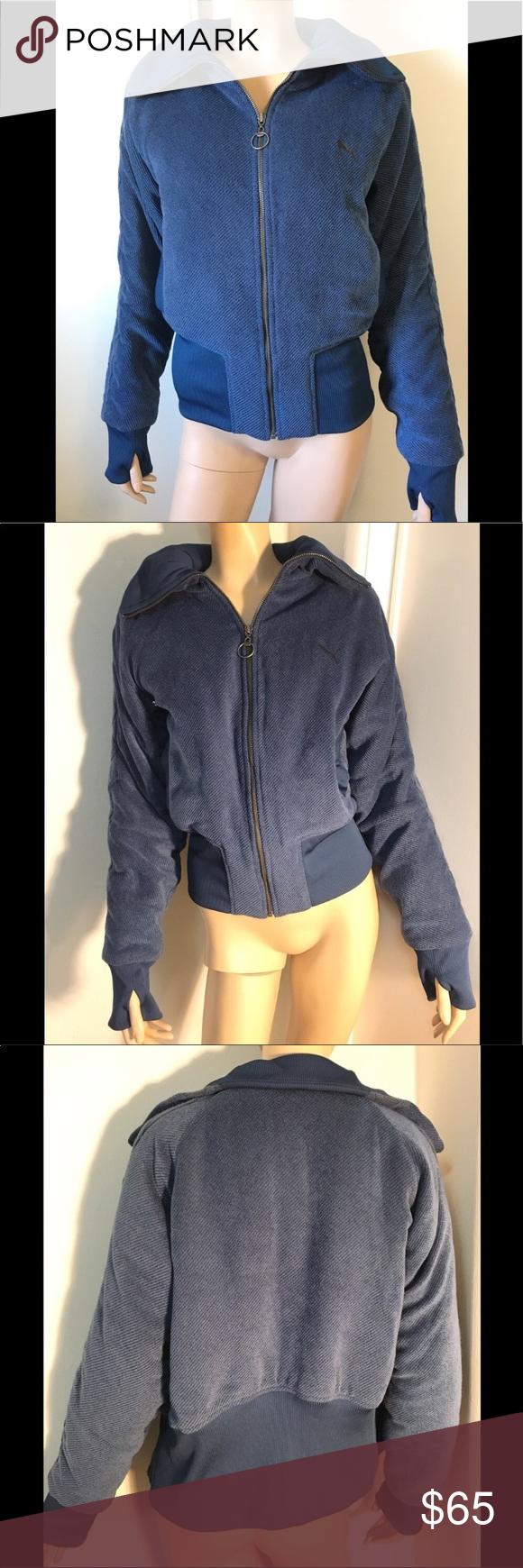 Puma bomber jacket blue Medium Clothes design, Bomber