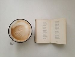 Words and cappuccino.