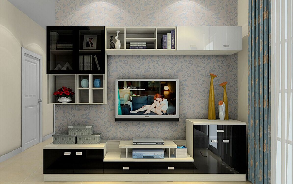 excellent tv wall design with living room tv wall design with feather wallpaper