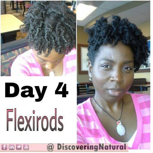 Day 4 of #Flexirods . I did the same thing as i did for Day 3. Read the blog to find out what I did DiscoveringNatural.com #NaturalHair #naturalsistas #pink #4cHairChick #GoodMorning