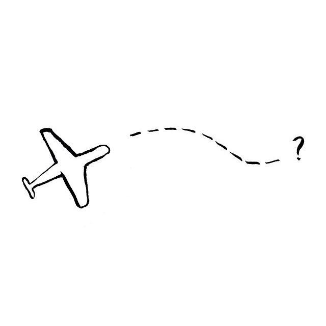 Airplane Drawing Simple Drawings Wanderlust