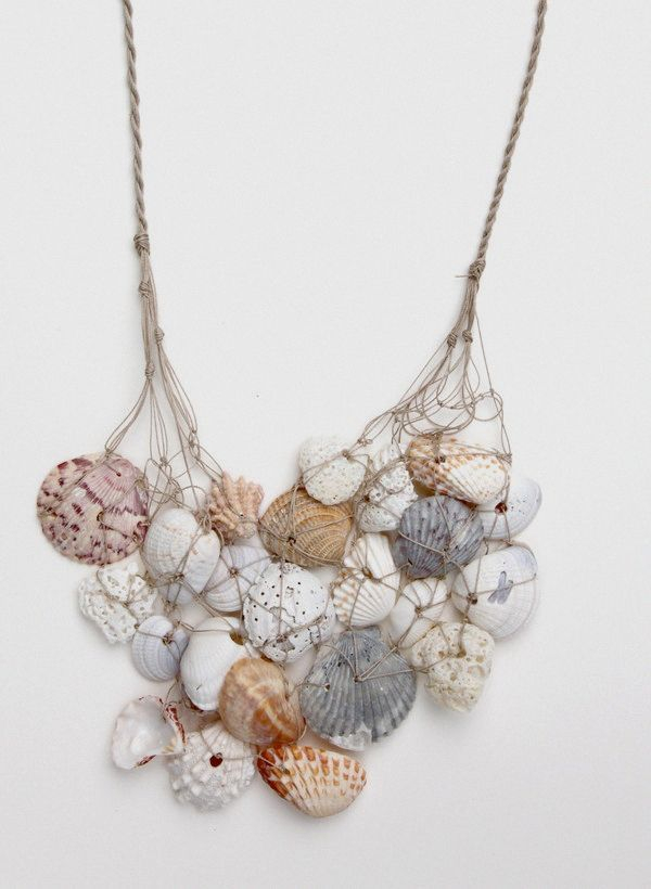 Image result for seashell necklace diy diy perhaps pinterest explore seashell jewelry diy jewelry and more solutioingenieria Image collections