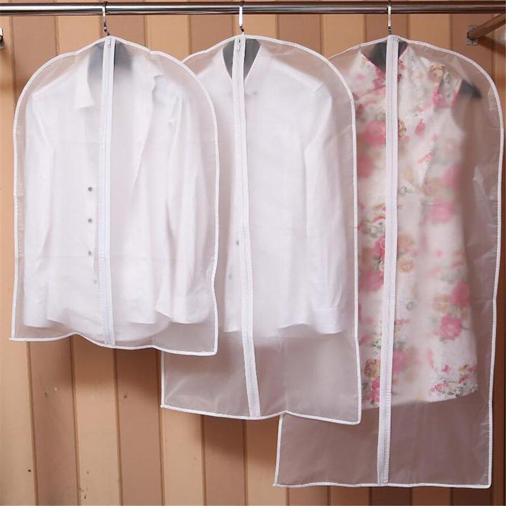 89a26ec5694e Thick Transparent Clothes Dust Cover Clothing Suit Garment Hanging ...