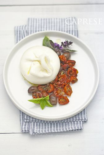Caprese salad, a stylish version