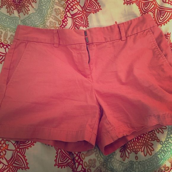 Shorts from the LOFT size four, coral colored Brand new shorts from the Loft. Bought them at the end of summer last year for work, and now they no longer fit. Size four, super comfy. Lightly worn. LOFT Shorts