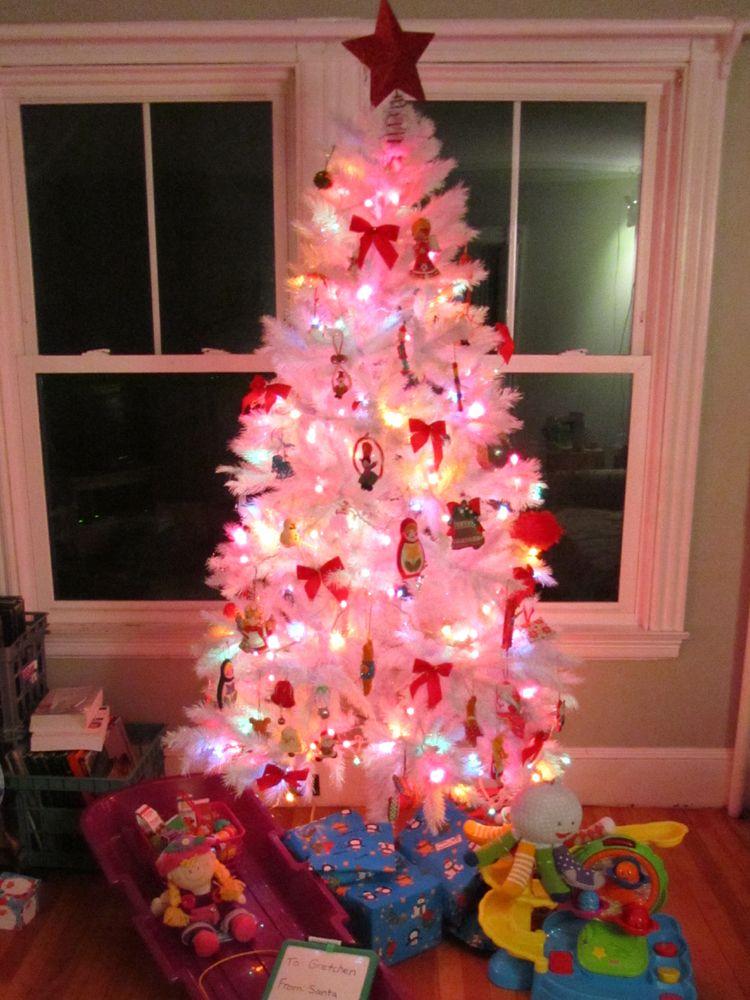 White Christmas Tree Rainbow Lights Jpg 750 1000 Christmas