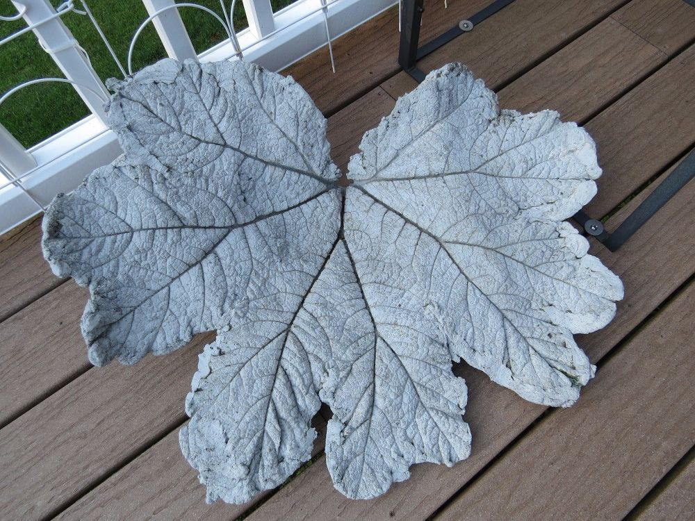 How to Cast a Cement Garden Leaf | Things I Might Try